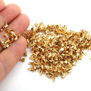 50 Pcs 24K Inner 1mm Gold Plated Cord End , Brass end cap , Crimps ,Cord Tip-GLD-106 | Shop jewelry making and beading supplies, tools & findings for DIY jewelry making and crafts. #jewelrymaking #diyjewelry #jewelrycrafts #jewelrysupplies #beading #affiliate #ad