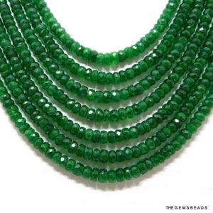 Shop Emerald Beads! 6/9/15 Pcs Natural Beryl Emerald Green Beads, 4MM to 5MM Nicely Faceted Vivid Green Beryl Beads, Get 50% Off Bridal Jewelry Supplies Sale. | Natural genuine beads Emerald beads for beading and jewelry making.  #jewelry #beads #beadedjewelry #diyjewelry #jewelrymaking #beadstore #beading #affiliate #ad