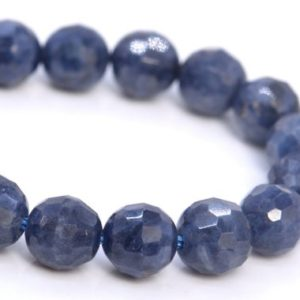 Genuine Sapphire Beads Grade AA Natural Gemstone Micro Faceted Round Loose Beads 6MM 8MM Bulk Lot Options | Natural genuine round Sapphire beads for beading and jewelry making.  #jewelry #beads #beadedjewelry #diyjewelry #jewelrymaking #beadstore #beading #affiliate #ad