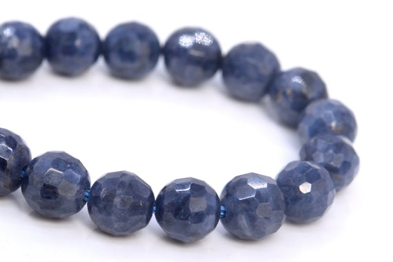 Genuine Sapphire Beads Grade Aa Natural Gemstone Micro Faceted Round Loose Beads 6mm 8mm Bulk Lot Options