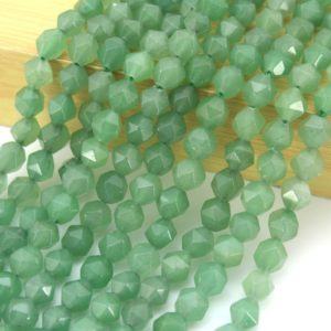 Shop Aventurine Faceted Beads! 7x8mm Natural Star Cut Faceted aventurine quartz Beads ,Loose aventurine Beads ,Faceted Gemstone beads ,Wholesale bads -14.5 inches-ST11 | Natural genuine faceted Aventurine beads for beading and jewelry making.  #jewelry #beads #beadedjewelry #diyjewelry #jewelrymaking #beadstore #beading #affiliate #ad