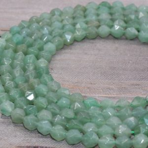 Shop Aventurine Faceted Beads! 8mm Natual Green Aventurine beads, Aventurine faceted gemstones, full strand 15.5inch #209 | Natural genuine faceted Aventurine beads for beading and jewelry making.  #jewelry #beads #beadedjewelry #diyjewelry #jewelrymaking #beadstore #beading #affiliate #ad