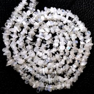 """Shop Rainbow Moonstone Chip & Nugget Beads! AAA Quality 16"""" Natural Rainbow Moonstone Chip Beads,Uncut Beads,Moonstone Beads,4-7 MM,Jewelry Making,Polished Smooth Beads,Wholesale Price 