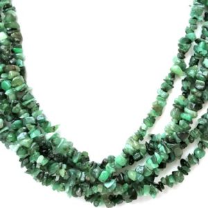 "Shop Emerald Chip & Nugget Beads! AAA Quality 16""Long Natural Emerald Chip Bead,Uncut Chip Bead,5-7 MM,Polished Beads,Smooth Emerald Chip Bead,Emerald gemstone,making Jewelry 