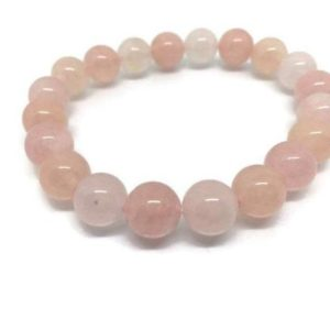 Shop Morganite Bracelets! AAAA 10mm Morganite Bracelet – Beautiful Bracelet, Natural Morganite Beaded Bracelet , Gemstone Bracelet Code 01 | Natural genuine Morganite bracelets. Buy crystal jewelry, handmade handcrafted artisan jewelry for women.  Unique handmade gift ideas. #jewelry #beadedbracelets #beadedjewelry #gift #shopping #handmadejewelry #fashion #style #product #bracelets #affiliate #ad