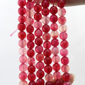 Shop Red Agate Beads! 20%off 8mm Romantic Red  Faceted agate Beads  Faceted Gemstone Beads One Full Strand Agate Beads  –about 47-48 Pieces—15-16 inches–NF059 | Natural genuine beads Agate beads for beading and jewelry making.  #jewelry #beads #beadedjewelry #diyjewelry #jewelrymaking #beadstore #beading #affiliate #ad