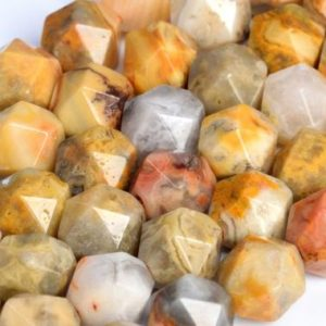 Shop Crazy Lace Agate Beads! Genuine Natural Orange Cream Crazy Lace Agate Loose Beads Star Cut Faceted Shape 5-6mm 7-8mm 9-10mm | Natural genuine beads Agate beads for beading and jewelry making.  #jewelry #beads #beadedjewelry #diyjewelry #jewelrymaking #beadstore #beading #affiliate #ad