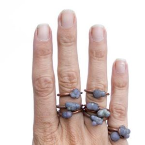 Grape Agate ring | Grape Agate Cluster ring | Copper and natural agate jewelry | Raw stone ring | Rough grape agate jewelry | Natural genuine Gemstone rings, simple unique handcrafted gemstone rings. #rings #jewelry #shopping #gift #handmade #fashion #style #affiliate #ad