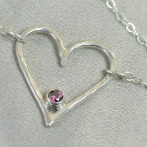 Shop Alexandrite Necklaces! Alexandrite Heart Necklace, Sterling Silver, Mothers Necklace, June Birthstone Necklace, Alexandrite Necklace, Mother Necklace, Pendant | Natural genuine Alexandrite necklaces. Buy crystal jewelry, handmade handcrafted artisan jewelry for women.  Unique handmade gift ideas. #jewelry #beadednecklaces #beadedjewelry #gift #shopping #handmadejewelry #fashion #style #product #necklaces #affiliate #ad
