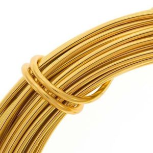 Shop Beading Wire! Aluminum Gold Craft Wire 12 Gauge 39 Feet, Craft Projects And Jewelry Wire, Easily Bendable Gold Wire For Projects Like Wedding Dress Hanger | Shop jewelry making and beading supplies, tools & findings for DIY jewelry making and crafts. #jewelrymaking #diyjewelry #jewelrycrafts #jewelrysupplies #beading #affiliate #ad