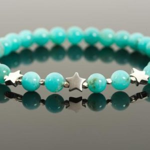 Shop Amazonite Bracelets! Amazonite Bracelet, Natural Blue Gemstone Chakra Stretch Bracelet with Sterling Silver Star Charms – Handmade Jewelry | Natural genuine Amazonite bracelets. Buy crystal jewelry, handmade handcrafted artisan jewelry for women.  Unique handmade gift ideas. #jewelry #beadedbracelets #beadedjewelry #gift #shopping #handmadejewelry #fashion #style #product #bracelets #affiliate #ad