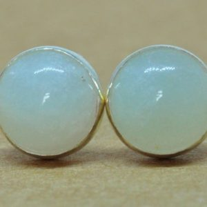 Amazonite Earrings, Amazonite jewelry in Sterling Silver studs, 8mm natural gemstones | Natural genuine Amazonite earrings. Buy crystal jewelry, handmade handcrafted artisan jewelry for women.  Unique handmade gift ideas. #jewelry #beadedearrings #beadedjewelry #gift #shopping #handmadejewelry #fashion #style #product #earrings #affiliate #ad