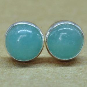 Amazonite Earrings,  Sterling Silver Natural 5mm Amazonite Jewelry Gift | Natural genuine Amazonite earrings. Buy crystal jewelry, handmade handcrafted artisan jewelry for women.  Unique handmade gift ideas. #jewelry #beadedearrings #beadedjewelry #gift #shopping #handmadejewelry #fashion #style #product #earrings #affiliate #ad