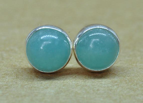 Amazonite Earrings,  Sterling Silver Natural 5mm Amazonite Jewelry Gift