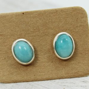 Shop Amazonite Earrings! Amazonite studs oval shape | Natural genuine Amazonite earrings. Buy crystal jewelry, handmade handcrafted artisan jewelry for women.  Unique handmade gift ideas. #jewelry #beadedearrings #beadedjewelry #gift #shopping #handmadejewelry #fashion #style #product #earrings #affiliate #ad