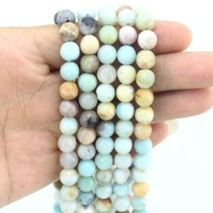 Shop Amazonite Necklaces! Faceted Amazonite Beads, Natural Amazonite beads,Round beads,Gemstone beads,Necklace  beads,Size 4mm,6mm,8mm,10mm–15-16 inches–EB371 | Natural genuine Amazonite necklaces. Buy crystal jewelry, handmade handcrafted artisan jewelry for women.  Unique handmade gift ideas. #jewelry #beadednecklaces #beadedjewelry #gift #shopping #handmadejewelry #fashion #style #product #necklaces #affiliate #ad