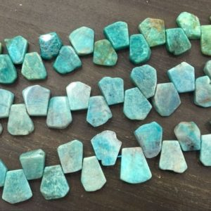 Natural Amazonite Slice Beads Graduated Roughly Teardrop Beads Wholesale Loose Beads Slab Slice Supplies Full Strand | Natural genuine other-shape Amazonite beads for beading and jewelry making.  #jewelry #beads #beadedjewelry #diyjewelry #jewelrymaking #beadstore #beading #affiliate #ad