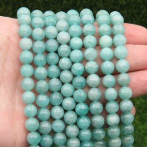 Shop Amazonite Round Beads! Natural Amazonite Round Beads,Polish Amazonite Round Beads,6mm 8mm 10mm Round Beads,Amazonite Gemstone Beads,Loose Strand Wholesale Beads, | Natural genuine round Amazonite beads for beading and jewelry making.  #jewelry #beads #beadedjewelry #diyjewelry #jewelrymaking #beadstore #beading #affiliate #ad