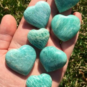 amazonite crystal heart – amazonite heart – healing crystals and stones – amazonite stone heart – chakra stones – amazonite carved heart | Natural genuine stones & crystals in various shapes & sizes. Buy raw cut, tumbled, or polished gemstones for making jewelry or crystal healing energy vibration raising reiki stones. #crystals #gemstones #crystalhealing #crystalsandgemstones #energyhealing #affiliate #ad