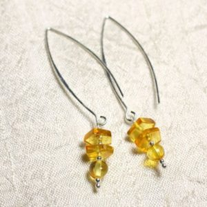 Shop Amber Earrings! Amber and Silver 925 long hooks earrings natural honey 6-9mm | Natural genuine Amber earrings. Buy crystal jewelry, handmade handcrafted artisan jewelry for women.  Unique handmade gift ideas. #jewelry #beadedearrings #beadedjewelry #gift #shopping #handmadejewelry #fashion #style #product #earrings #affiliate #ad