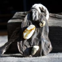 Black Oak Necklace With Raw White Amber Wild Driftwood Jewelry   Natural genuine Gemstone jewelry. Buy crystal jewelry, handmade handcrafted artisan jewelry for women.  Unique handmade gift ideas. #jewelry #beadedjewelry #beadedjewelry #gift #shopping #handmadejewelry #fashion #style #product #jewelry #affiliate #ad