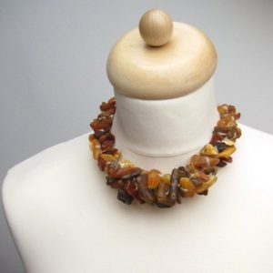 Shop Amber Jewelry! Unpolished Natural Baltic Amber Necklace Statement Piece Raw Brown Orange Honey Earthy Colors Bagel Organic Fashion | Natural genuine Amber jewelry. Buy crystal jewelry, handmade handcrafted artisan jewelry for women.  Unique handmade gift ideas. #jewelry #beadedjewelry #beadedjewelry #gift #shopping #handmadejewelry #fashion #style #product #jewelry #affiliate #ad
