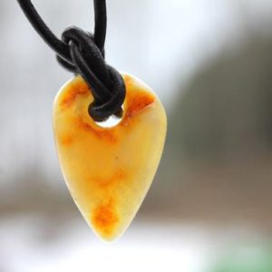 Shop Amber Jewelry! Yellow Baltic Amber Leather Men Necklace Charm Arrowhead Amber Pendant Unisex Pendant Rustic | Natural genuine Amber jewelry. Buy crystal jewelry, handmade handcrafted artisan jewelry for women.  Unique handmade gift ideas. #jewelry #beadedjewelry #beadedjewelry #gift #shopping #handmadejewelry #fashion #style #product #jewelry #affiliate #ad