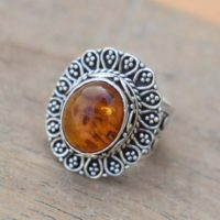Designer Natural Amber Ring, perfect Gift For Mother's Day, solid 925 Sterling Silver Orange Gemstone Ring, baltic Amber Ring, gift For Her | Natural genuine Gemstone jewelry. Buy crystal jewelry, handmade handcrafted artisan jewelry for women.  Unique handmade gift ideas. #jewelry #beadedjewelry #beadedjewelry #gift #shopping #handmadejewelry #fashion #style #product #jewelry #affiliate #ad