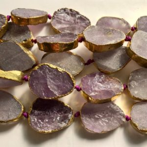 Shop Amethyst Chip & Nugget Beads! chinese jade 20x15x6mm flat oval gemstone Beads -15.5''–1 strand/3 strands | Natural genuine chip Amethyst beads for beading and jewelry making.  #jewelry #beads #beadedjewelry #diyjewelry #jewelrymaking #beadstore #beading #affiliate #ad
