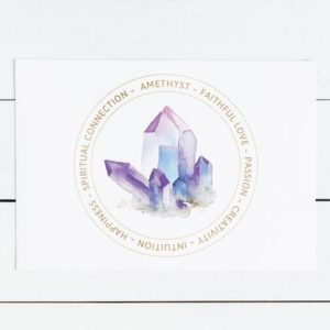 Amethyst Crystal Card – Jewelry Display Card – Printable – Amethyst Meaning – Healing Stone – Jewelry Gift Tag – Chakra Kit Insert – Label | Shop jewelry making and beading supplies, tools & findings for DIY jewelry making and crafts. #jewelrymaking #diyjewelry #jewelrycrafts #jewelrysupplies #beading #affiliate #ad