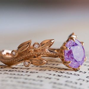 Amethyst Engagement Ring, Amethyst Wedding Ring, Amethyst 14K Ring, Bohemian Engagement Ring, Purple Diamond Ring, Amethyst Anniversary Ring | Natural genuine Amethyst rings, simple unique alternative gemstone engagement rings. #rings #jewelry #bridal #wedding #jewelryaccessories #engagementrings #weddingideas #affiliate #ad