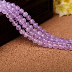 Lavender Amethyst Beads, 4 6 8 10 12 14mm Genuine Amethyst Crystal Beads for Girls' Jewelry, Craft Supply, Jewelry Beads Supplies | Natural genuine other-shape Array beads for beading and jewelry making.  #jewelry #beads #beadedjewelry #diyjewelry #jewelrymaking #beadstore #beading #affiliate #ad