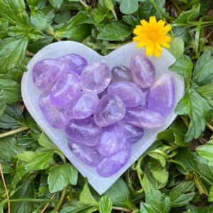 Shop Tumbled Amethyst Crystals & Pocket Stones! Amethyst Tumbled Stone, Amethyst Tumble, Amethyst, Smooth, Polished, Purple Amethyst, Natural, Crystal, Palm Stone | Natural genuine stones & crystals in various shapes & sizes. Buy raw cut, tumbled, or polished gemstones for making jewelry or crystal healing energy vibration raising reiki stones. #crystals #gemstones #crystalhealing #crystalsandgemstones #energyhealing #affiliate #ad