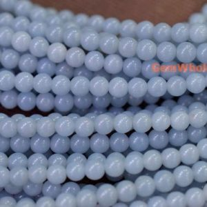 "15.5"" 4mm/6mm Natural angelite stone round beads, High quality blue color DIY gemstone 4mm beads, semi precious stone, jewelry wholesaler 