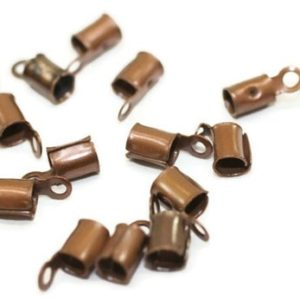 Shop Cord Tips! Antique Copper Leather Crimp Ends with Loop (4x10mm), Cord Ends, Crimp End Findings, Cord tip, Crimps, crimps, leather ends, GNC | Shop jewelry making and beading supplies, tools & findings for DIY jewelry making and crafts. #jewelrymaking #diyjewelry #jewelrycrafts #jewelrysupplies #beading #affiliate #ad