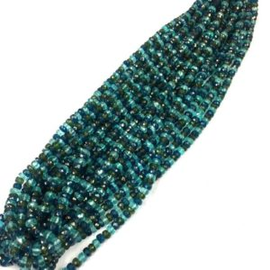 """Shop Apatite Faceted Beads! Natural Gemstone Faceted Multi Apatite Rondelle Beads 5mm Gemstone Beads 18"""" Strand Top Quality 