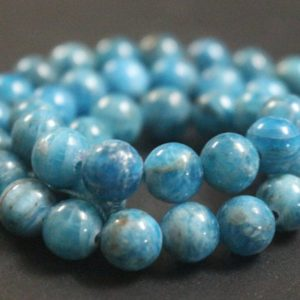 Natural AAA Blue Apatite Beads,6mm/8mm/10mm/12mm Natural Blue Apatite Beads,15 inches one starand | Natural genuine other-shape Apatite beads for beading and jewelry making.  #jewelry #beads #beadedjewelry #diyjewelry #jewelrymaking #beadstore #beading #affiliate #ad