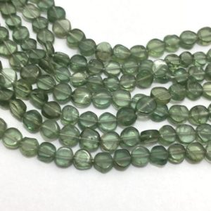 Natural Green Apetite Plain Coin Beads, 4.5mm to 5mm, 13 inches, Green Beads, Gemstone Beads, Semiprecious Stone Beads | Natural genuine other-shape Gemstone beads for beading and jewelry making.  #jewelry #beads #beadedjewelry #diyjewelry #jewelrymaking #beadstore #beading #affiliate #ad