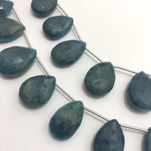 Shop Apatite Bead Shapes! Natural Neon Apetite Faceted Briolette Pears Beads, 10x16mm to 15x24mm, 8 inches, Neon Beads, Gemstone Beads, Semiprecious Stone Beads | Natural genuine other-shape Apatite beads for beading and jewelry making.  #jewelry #beads #beadedjewelry #diyjewelry #jewelrymaking #beadstore #beading #affiliate #ad