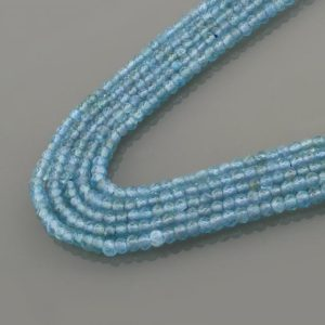 """Shop Apatite Bead Shapes! Sky blue apatite  for jewelry making blue gemstone beads,natural 2.8 mm apatite beads,genuine apatite 15"""" strand 