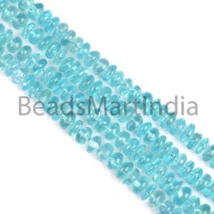 Shop Apatite Rondelle Beads! Blue Apatite Plain Rondelle Shape Beads, Apatite Smooth Rondelle Shape Beads, Sky Apatite Plain Beads, Apatite Rondelle Beads | Natural genuine rondelle Apatite beads for beading and jewelry making.  #jewelry #beads #beadedjewelry #diyjewelry #jewelrymaking #beadstore #beading #affiliate #ad