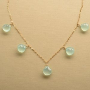 Shop Blue Chalcedony Necklaces! Aqua Blue Chalcedony Necklace, Gemstone Gold Chain Necklace, Peruvian Chalcedony, Delicate Gemstone Necklace, Gifts for Her | Natural genuine Blue Chalcedony necklaces. Buy crystal jewelry, handmade handcrafted artisan jewelry for women.  Unique handmade gift ideas. #jewelry #beadednecklaces #beadedjewelry #gift #shopping #handmadejewelry #fashion #style #product #necklaces #affiliate #ad