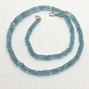 Shop Aquamarine Faceted Beads! Natural Aquamarine Faceted Rondelle Beads with Clasp, 4mm to 7mm, 16 inches, Aqua Beads, Gemstone Beads, Semiprecious Stone beads | Natural genuine faceted Aquamarine beads for beading and jewelry making.  #jewelry #beads #beadedjewelry #diyjewelry #jewelrymaking #beadstore #beading #affiliate #ad