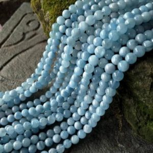AA Aquamarine Gemstone Beads, Genuine Aquamarine Beads, High Quality Blue Aquamarine Loose Beads,  6/8/10/12mm Natural Aquamarine | Natural genuine other-shape Aquamarine beads for beading and jewelry making.  #jewelry #beads #beadedjewelry #diyjewelry #jewelrymaking #beadstore #beading #affiliate #ad