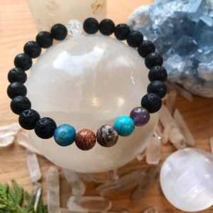 Shop Apache Tears Jewelry! AQUARIUS Bracelet – Zodiac Astrology Spiritual Crystal Healing Jewelry Apatite Garnet Turquoise Amethyst Hematite Lava Stone Wrist Mala | Natural genuine Apache Tears jewelry. Buy crystal jewelry, handmade handcrafted artisan jewelry for women.  Unique handmade gift ideas. #jewelry #beadedjewelry #beadedjewelry #gift #shopping #handmadejewelry #fashion #style #product #jewelry #affiliate #ad