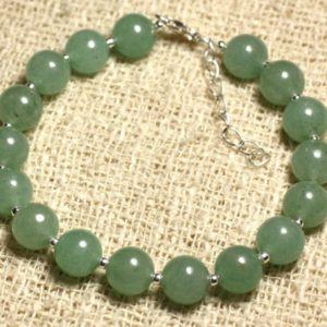 Shop Aventurine Bracelets! Bracelet 925 sterling silver and gemstone – Aventurine Green 8 mm   Natural genuine Aventurine bracelets. Buy crystal jewelry, handmade handcrafted artisan jewelry for women.  Unique handmade gift ideas. #jewelry #beadedbracelets #beadedjewelry #gift #shopping #handmadejewelry #fashion #style #product #bracelets #affiliate #ad