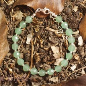 Shop Aventurine Bracelets! Bracelet 925 sterling silver and faceted green Aventurine 6mm | Natural genuine Aventurine bracelets. Buy crystal jewelry, handmade handcrafted artisan jewelry for women.  Unique handmade gift ideas. #jewelry #beadedbracelets #beadedjewelry #gift #shopping #handmadejewelry #fashion #style #product #bracelets #affiliate #ad