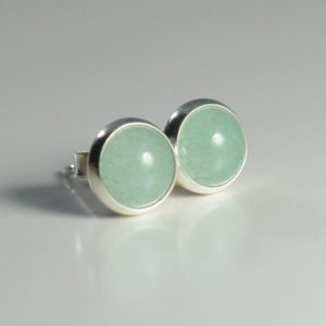 Shop Aventurine Earrings! aventurine 6mm sterling silver stud earrings | Natural genuine Aventurine earrings. Buy crystal jewelry, handmade handcrafted artisan jewelry for women.  Unique handmade gift ideas. #jewelry #beadedearrings #beadedjewelry #gift #shopping #handmadejewelry #fashion #style #product #earrings #affiliate #ad