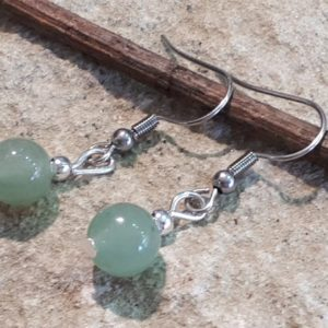 Shop Aventurine Earrings! Aventurine earrings 8 mm stainless steel | Natural genuine Aventurine earrings. Buy crystal jewelry, handmade handcrafted artisan jewelry for women.  Unique handmade gift ideas. #jewelry #beadedearrings #beadedjewelry #gift #shopping #handmadejewelry #fashion #style #product #earrings #affiliate #ad