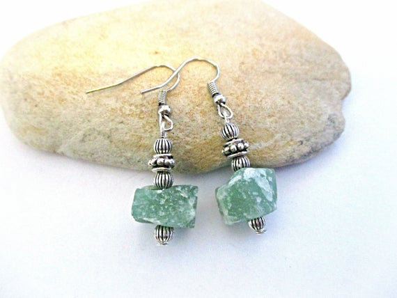 Aventurine Earrings   Raw Stone   Green   Bolivian Jewelry   Bridal Jewelry Anniversary Engagement Gift Bridesmaid Mother Of The Bride Gifts